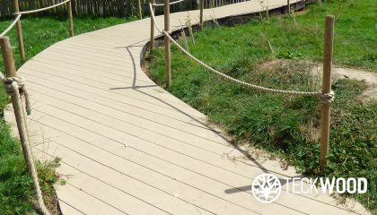 Step with confidence anti slip composite decking by teckwood