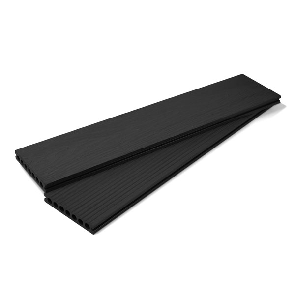 Hallmark Double Sided Charcoal Black Composite Decking Board main image
