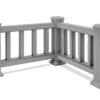 Grey Corner for Composite Balustrades