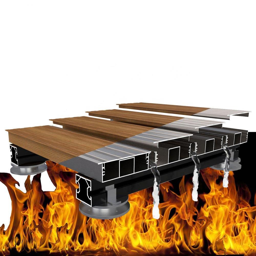 Image aluminium decking