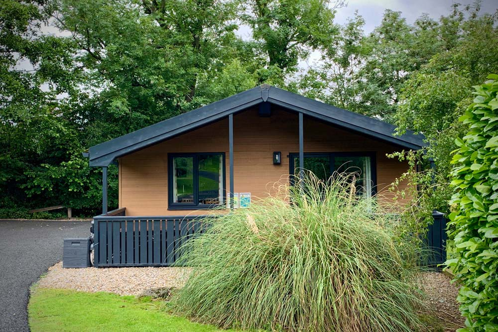 Flowery Dell lodges Composite cladding