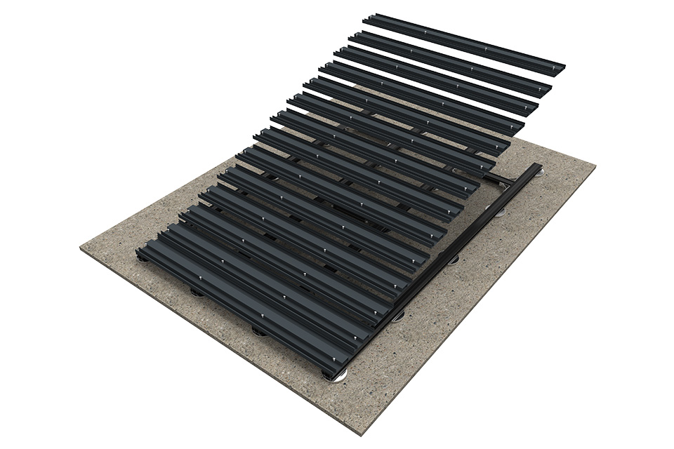 Teckwood Aluminium decking step 2