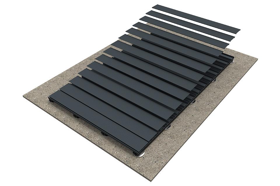 Teckwood Aluminium decking step 1