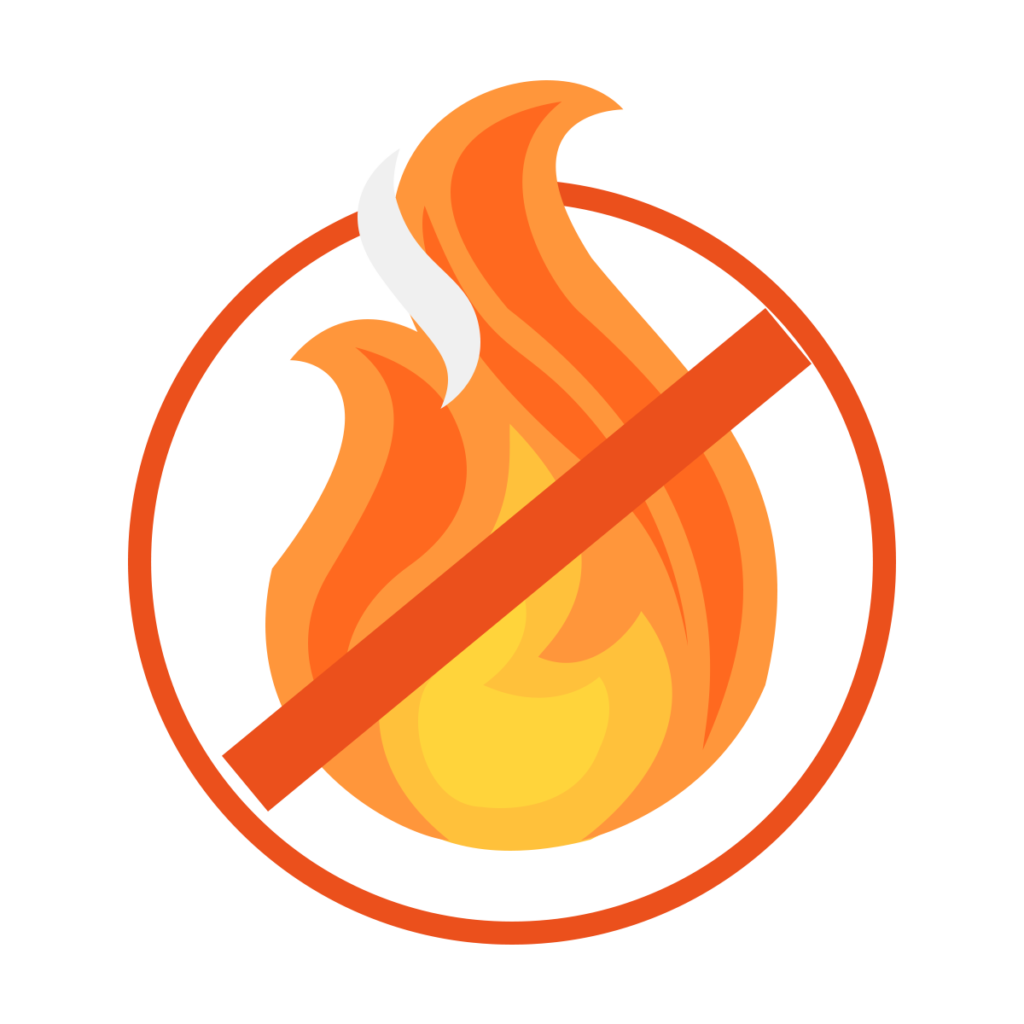 Fire rating icon